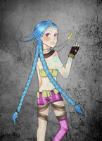 Jinx - Fan art by EllenaPepper