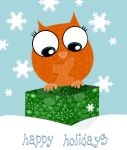 Owl Christmas Card by moonie