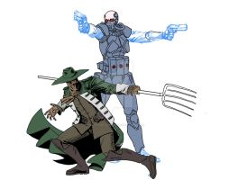 Earth 3-Scarecrow and Dr. Cold by Needham-Comics
