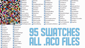 Pack 2 Swatches - 95 Total by blackxwinter