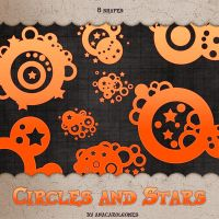 Circles and Stars shape by anacarolgomes