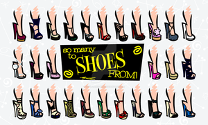 So Many To Shoes From by Cool-Hand-Mike