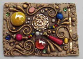 Pinwheel Polymer Clay ACEO by MandarinMoon