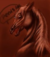 pervy zombie horse by nocturnalMoTH