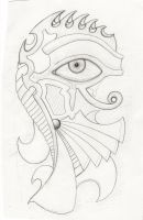 Eye of Horus Tattoo Sketch by Laagernaught