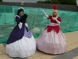 Lady Kyoya and Lady Tamaki Amecon '12 by KaniKaniza