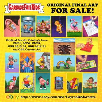 Original GPK Final Art FOR SALE! by DeJarnette