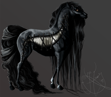 Gothic Corsage Horse by UndeadHoney