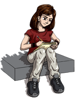 Dumbing of Age - Mary Sketching by DeathbyChiasmus