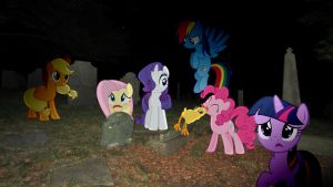 Mane 6 In A Graveyard by Macgrubor