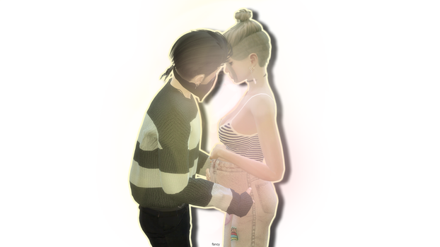 Pregnant Sims Couple Simsfancy by LotusFlowerr