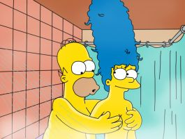 Marge + Homer in the shower 2 by WVS1777