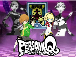 Persona Q: Chie/Aigis Fan-made Wallpaper by AkiyamaFC