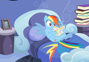 Dashie discovers magazines by Moonbrony