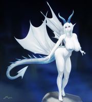 Pale Dragon by JessicaElwood