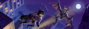 Scribblenauts Batman vs. Man-Bat by Acrylicdreams