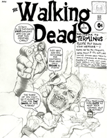 The Walking Dead Fantastic Four #1 Cover Homage by ayelid