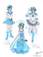 Sailormercury (4): Parallel, Princess, Super by AmethystSadachbia
