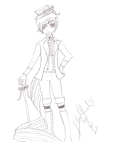 ciel sama uncolored by purplepunchi