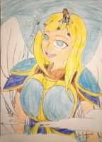 Special Draw: Jennie and the Colossal Angelena! by kjl03