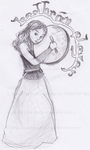 Bodhran player by Ama-Lemuria
