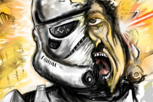 Blasted Stormtrooper by DarthMater