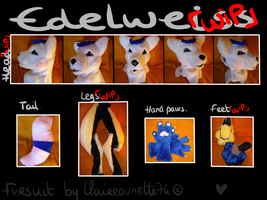 Edelweiss Fursuit WIP by Claireounette74