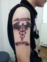 caduceus tattoo by killermedic