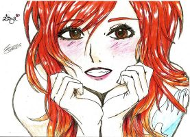 Erza beautiful by MidnightlityDreams