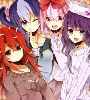 Happy Tree Friends girls anime by Battagua
