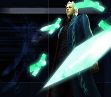 Devil May Cry 3 SE - Vergil Summon Swords by Elvin-Jomar