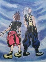 Sora and Riku by foxy-rin