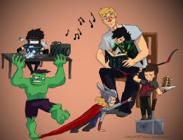 Kid!Vengers by CatalystOfTheSoul