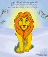When Aslan Comes In Sight by Goldy--Gry