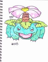#003 venusaur by Yami-The-Orca