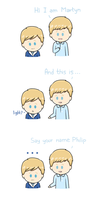 Baby Phil and Martyn by espadaroja