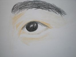 Eye sketch in colored pencil by RainKitty18