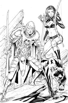 DRIZZT, CATTI and GUEN by ColtNoble