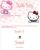 Hello Kitty Journal by Kittur-puff