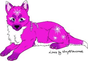 Pink Star Lace by The-DemonWolf
