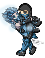Subzero and Frost: Chibi -CG- by dark-magician-nikoru