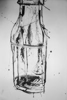 Bottle Still Life by rainbows-and-stars