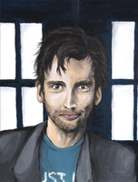 David Tennant Portrait. by batcii