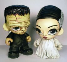 Frankenstein's Monster and the Bride by Flame-Ivy