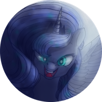 Badge design 3.~ Princess Luna by Mao-Ookaneko