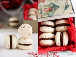Peppercorn macarons diptych by kupenska