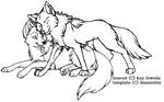 wolf love template by damenster