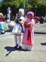Fanime'11: Remillia and Sakuya by theEmperorofShadows