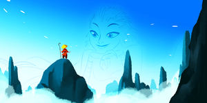 Sky Walker and his new Friend by Tiuni