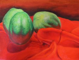 Limes - Oil by NinjasHeart